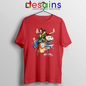 The Gaang Avatar Red Tshirt The Last Airbender Tee Shirts