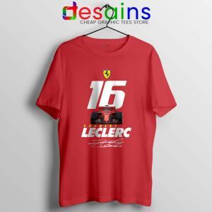 Charles Leclerc Race Car Tshirt F1 Driver Tee Shirts S-3XL