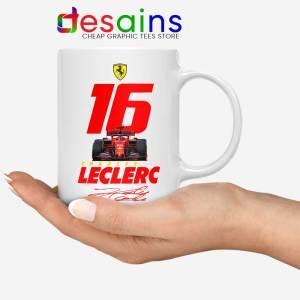 Charles Leclerc Race Car White Mug F1 Driver Coffee Mugs