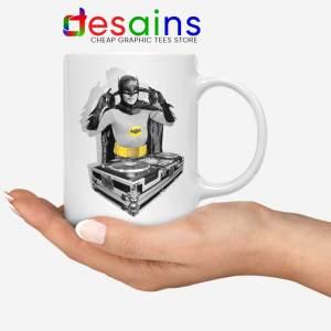 DJ The Dark Knight White Mug Funny Batman DJ Ceramic Coffee Mugs