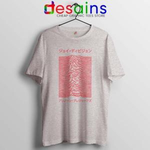 Japanese Joy Division Sport Grey Tshirt Unknown Pleasures Tee Shirts S-3XL