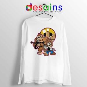 Mario Han Solo White Long Sleeve Tee Star Wars Super Mario T-shirts
