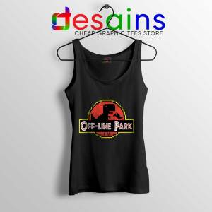 Off Line Park Tank Top Jurassic Park T-Rex Dinosaur Tops S-3XL