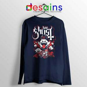 Papa Boo Ghost Navy Long Sleeve Tee Mario and Yoshi T-shirts Long