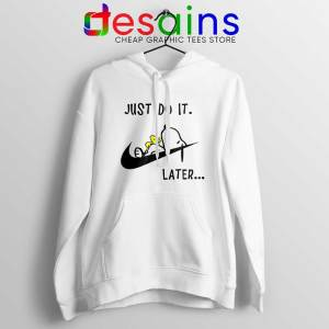 Snoopy Just Do it Later Hoodie Lazy Peanuts Dog Jacket