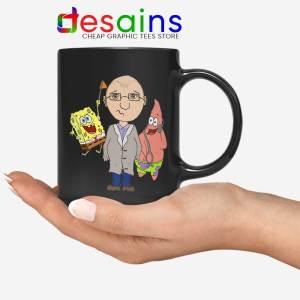 Doctor Spongebob Patrick Black Mug Funny Cartoon Coffee Mugs