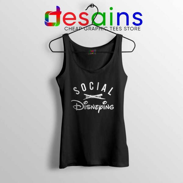 Social Disneying Black Tank Top Covid-19 Social Distancing Tops