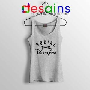 Social Disneying Sport Grey Tank Top Covid-19 Social Distancing Tops