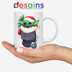 Stocking Stuffer Baby Yoda White Mug Star Wars Christmas Coffee Mugs