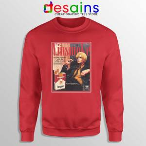 Vinsmoke Sanji Vintage Red Sweatshirt One Piece Smoke Sweaters