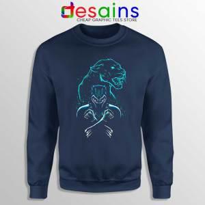 Black Panther Forever Navy Sweatshirt Chadwick Boseman RIP