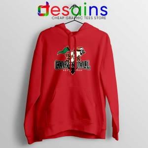 Calvinball Red Hoodie Calvin and Hobbes Baseball League Jacket