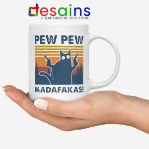 Cat Pew Pew Madafakas Mug Pew Pew Gun Meme Coffee Mugs
