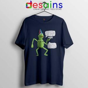 Kermit The Frog Navy Tshirt Yer A Wizard Tee Shirts