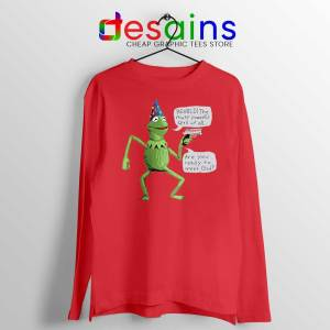 Kermit The Frog Red Long Sleeve Tee Yer A Wizard T-shirts