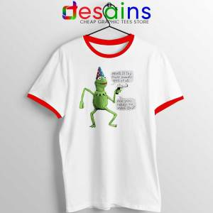 Kermit The Frog Red Ringer Tee Yer A Wizard T-shirts Ringer