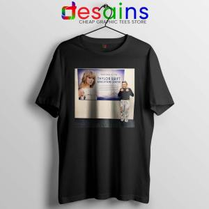 Phoebe and Taylor Swift Black Tshirt Education Center Friends Tees