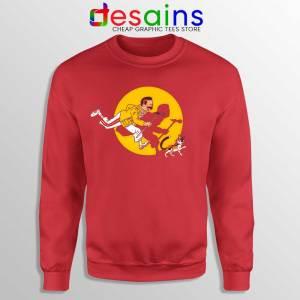 The Adventures of Red Freddie Sweatshirt Freddie Mercury Queen
