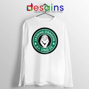 The Jasmine Dragon White Long Sleeve Tee Iroh Avatar Merch T-shirts