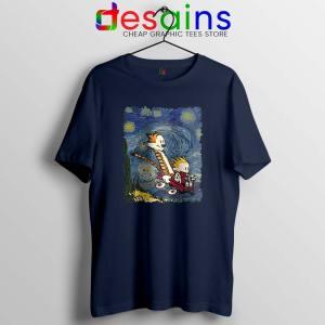 Calvin Hobbes Stary Night Tshirt Comic Strip Tee Shirts
