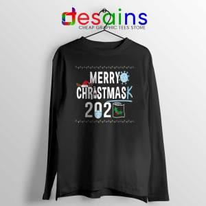 Merry Christmask Long Sleeve Tee Quarantine Ugly Christmas