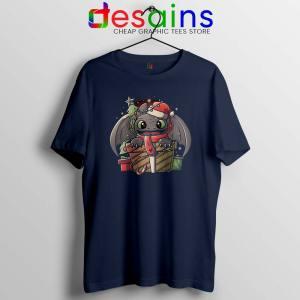 Toothless Dragon Santa Navy Tshirt Christmas Night Fury Tees