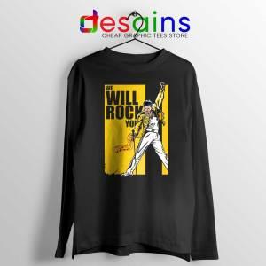 We Will Rock You Long Sleeve Tee Freddie Mercury Kill Bill