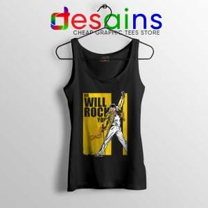 We Will Rock You Tank Top Freddie Mercury Kill Bill Tops