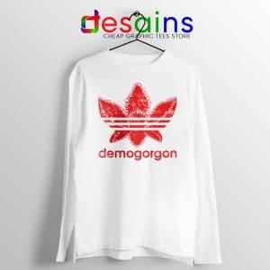 Demogorgon Adidas Long Sleeve Tee Stranger Things Three Stripes