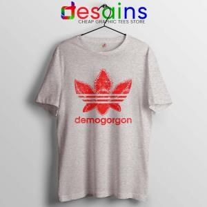 Demogorgon Adidas Sport Grey Tshirt Stranger Things Three Stripes