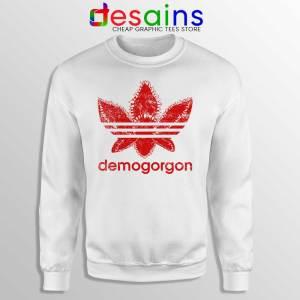 Demogorgon Adidas Sweatshirt Stranger Things Three Stripes