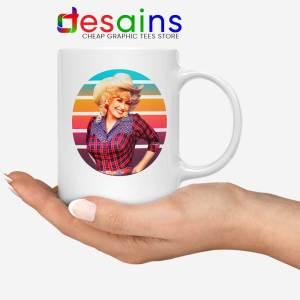 Dolly Parton Retro Style Mug Country Music Vintage Coffee Mugs