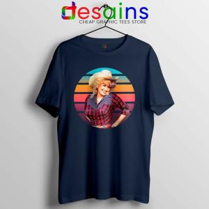 Dolly Parton Retro Style Navy Tshirt Country Music Vintage