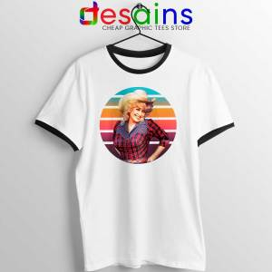 Dolly Parton Retro Style Ringer Tee Country Music Vintage