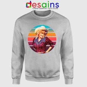 Dolly Parton Retro Style Sport Grey Sweatshirt Country Music Vintage