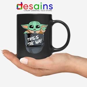 Grogu Pocket Helmet Black Mug Baby Yoda Mandalorian Coffee Mugs