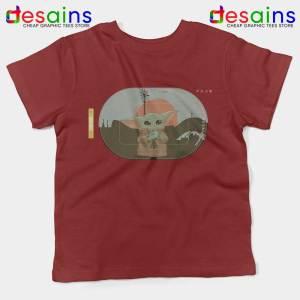 Grogu Target Mando Red Kids Tee Star Wars Disney+ Youth Tshirts