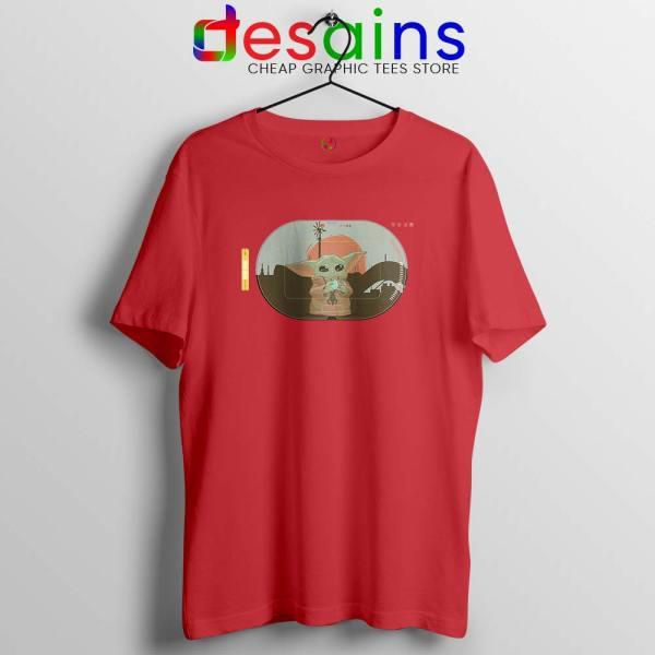 Grogu Target Mando Red Tshirt Star Wars Disney+ Tee Shirts