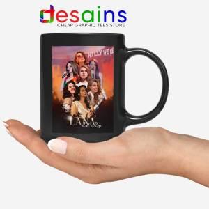 Lana Del Rey Hollywood Black Mug Born to Die Coffee Mugs