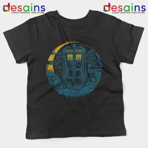 Police Box Dr Who Black Kids Tee The Traveler Tardis Youth Tshirts