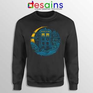 Police Box Dr who Black Sweatshirt The Traveler Tardis Sweaters