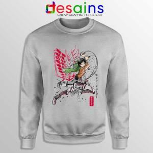 Eren Yeager Titan Sport Grey Sweatshirt Attack on Titan