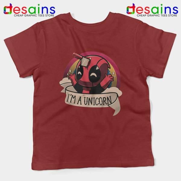 Im A Deadpool Unicorn Kids Tee Marvel Comics Youth T-shirts