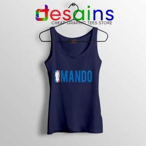 Mando NBA Logo Navy Tank Top The Mandalorian