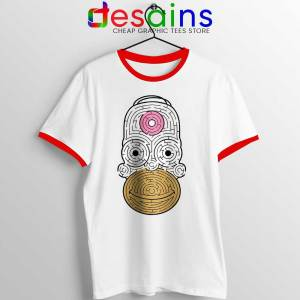 Simpson Mmm Homer Red Ringer Tee Real Life The Simpsons