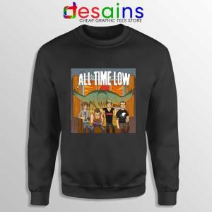 All Time Low Don t Panic Tour Black Sweatshirt Band