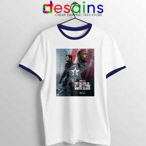 Cheap Falcon and Winter Soldier Navy Ringer Tee Marvel Disney+