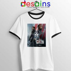 Cheap Falcon and Winter Soldier Ringer Tee Marvel Disney+