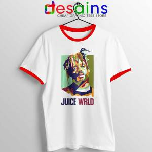 Juice Wrld Cause of Death Red Ringer Tee RIP Merch