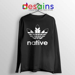 Native American Adidas Long Sleeve Tee Logo